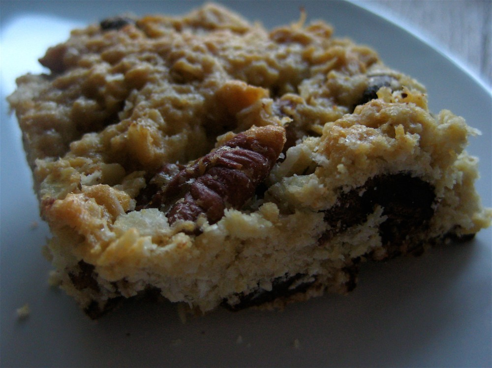 coconut oatmeal pecan chocolate chip bar