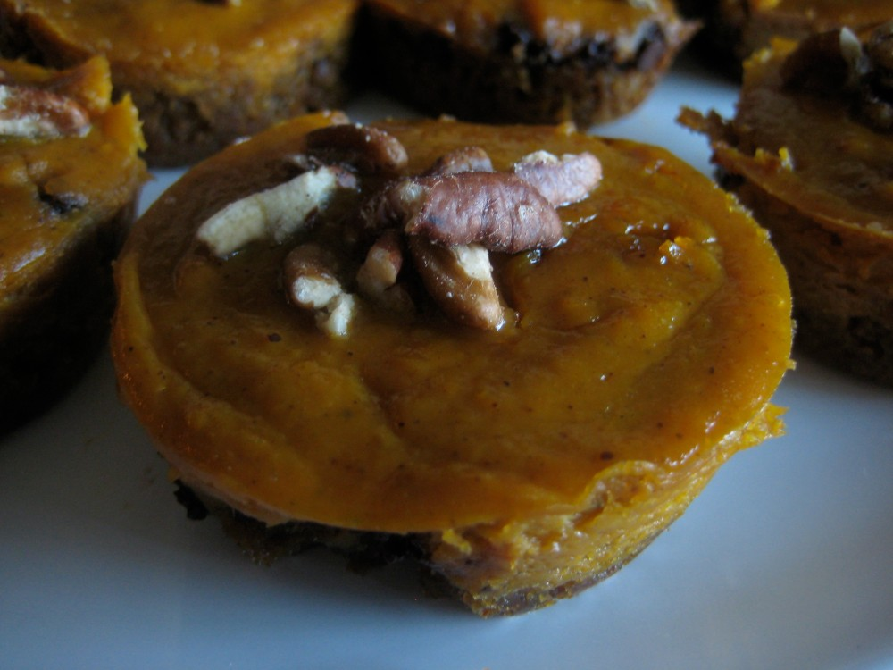 mini chocolate chip pumpkin pie
