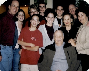 Grandpa Danny with his wife, two sons and their families, circa 2003