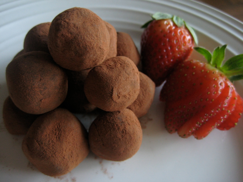 dark chocolate kahlua truffles