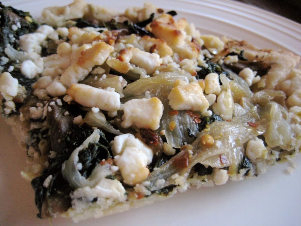mushroom and spinach tart