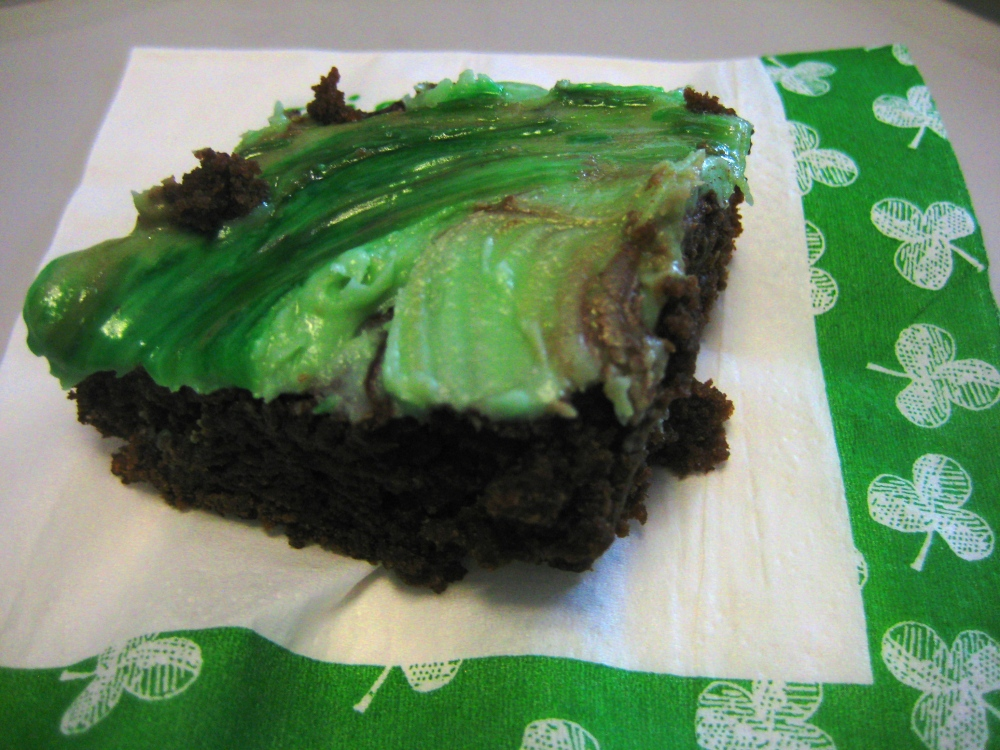 minty fudge brownie