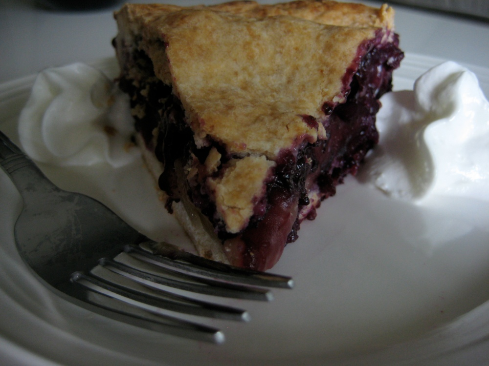 blueberry maple pie