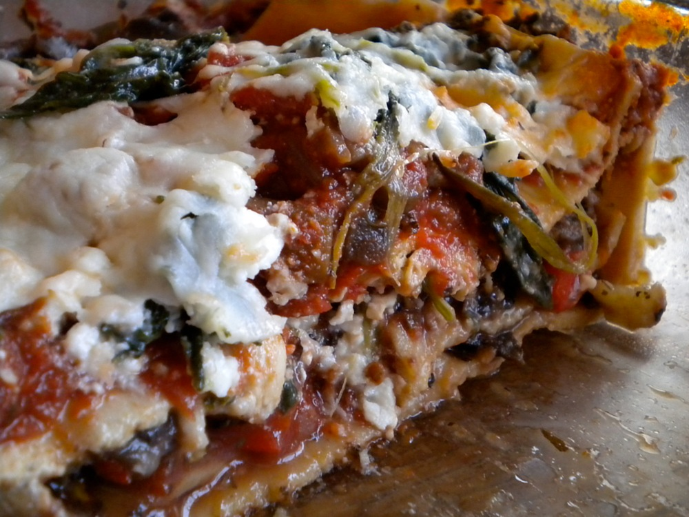 lighter veggie lasagna