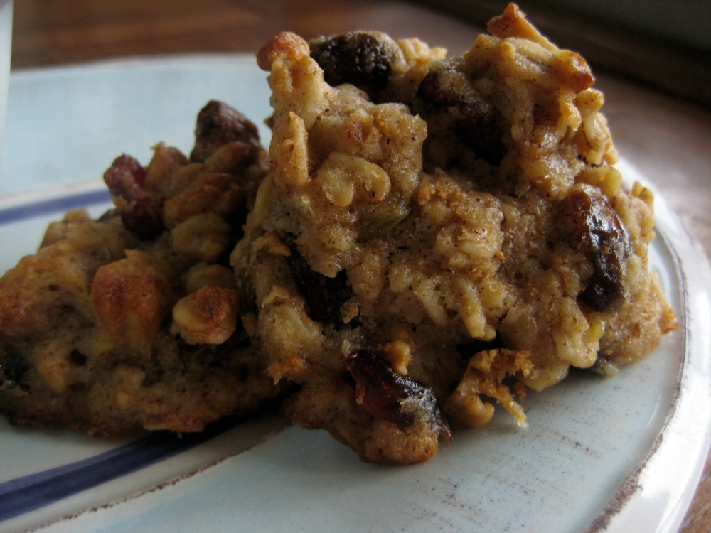 oatmeal banana jumble cookie