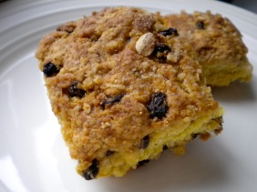 orange oatmeal currant scones