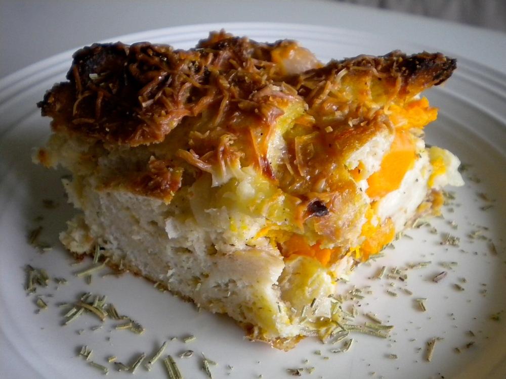 butternut squash bread pudding