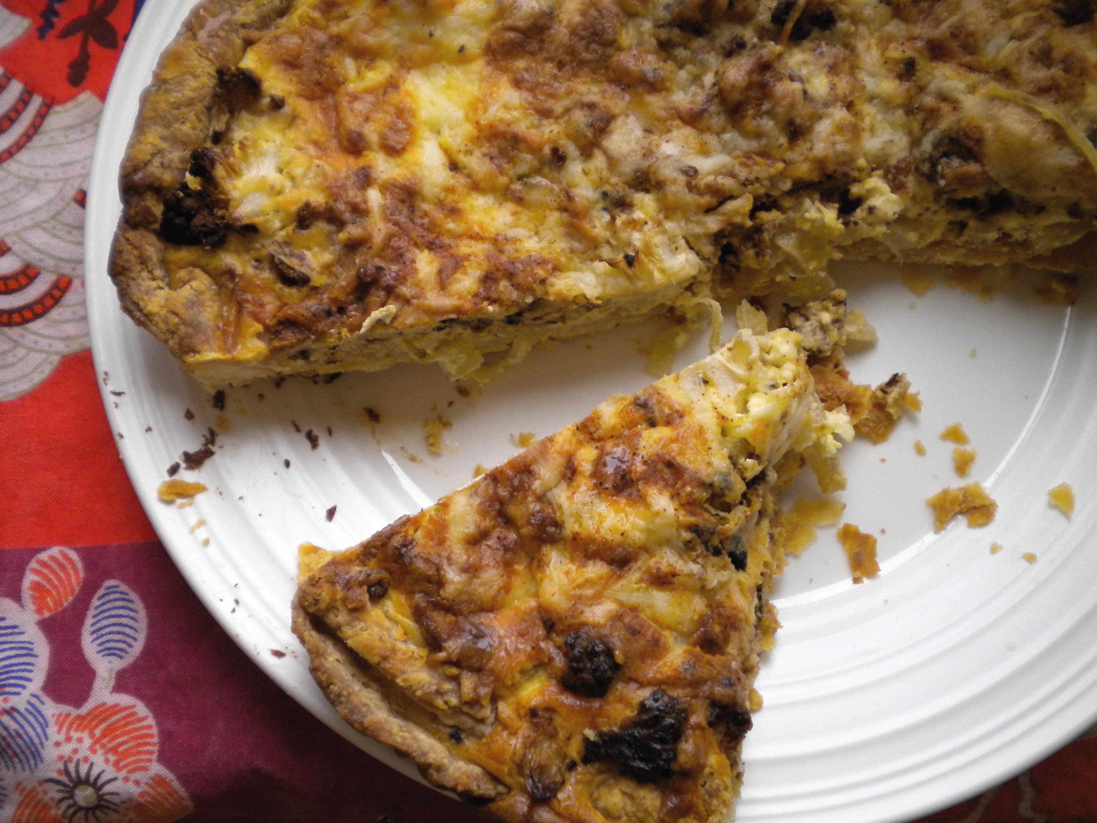 Roasted Cauliflower and Caramelized Onion Tart | Voila!