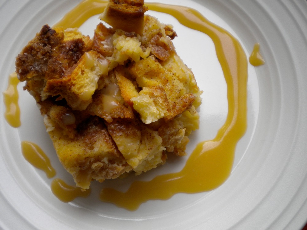 bread pudding with rum brown sugar sauce