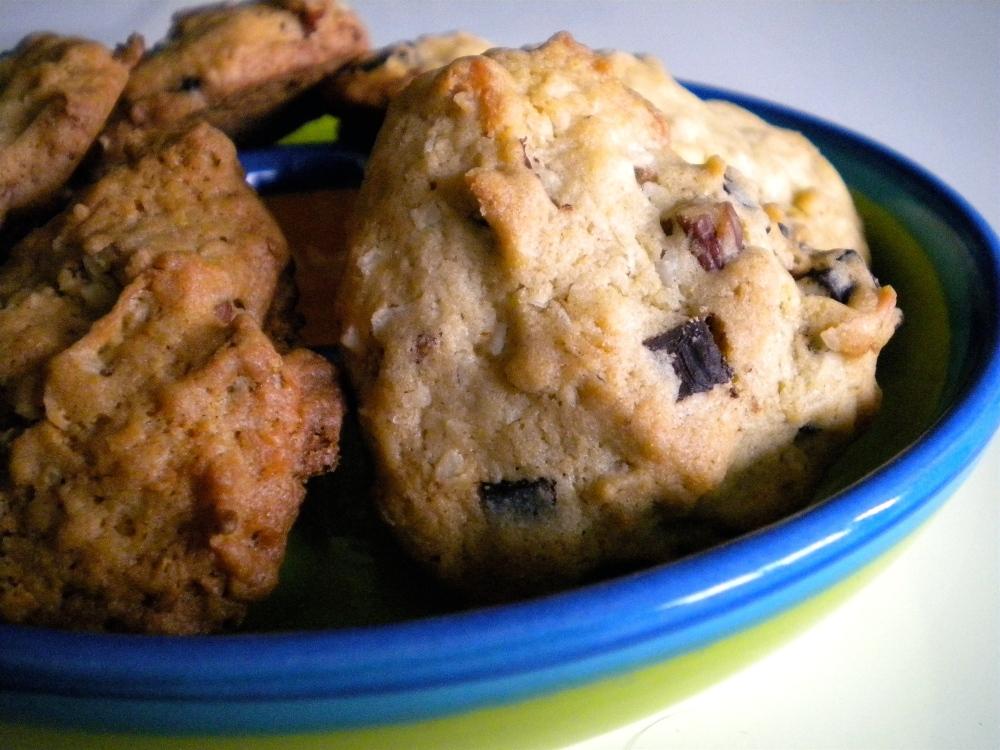 coconut chocolate chip pecan cookies