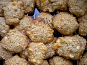 oatmeal apricot white chocolate chip cookies