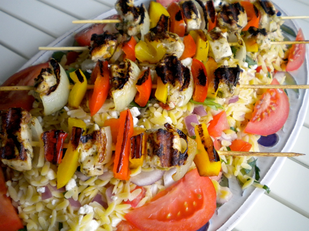greek chicken kebabs