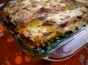 wild mushroom spinach lasagna