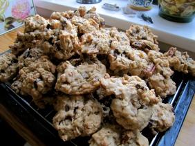 oatmeal raisin chocolate chip orange pecan cookies