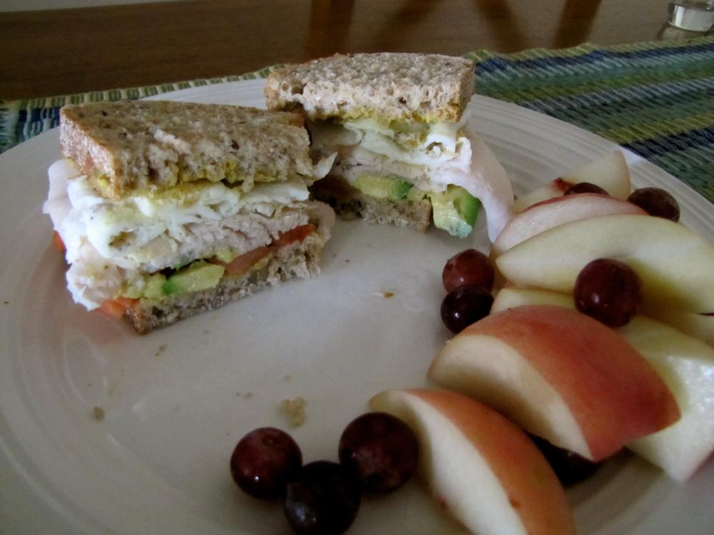 the omelet sandwich