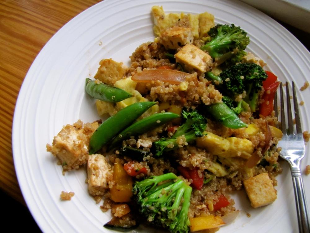 veggie quinoa teriyaki stir fry