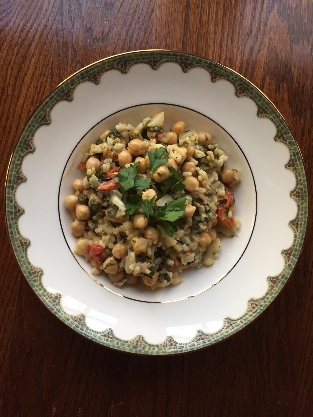 Braised Chickpea and Spinach with Lemon